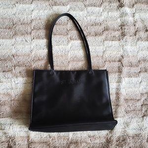 Handbags - ST JOHN BLACK SATIN TOTE...SIZE S/M